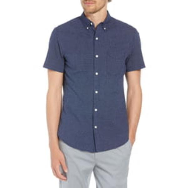 ボノボス メンズ シャツ トップス Slim Fit Poppy Print Shirt Duane Flower Deep Pacific