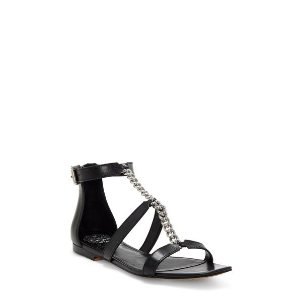 ヴィンスカムート レディース サンダル シューズ Sereney Chain Strap Sandal Black Leather