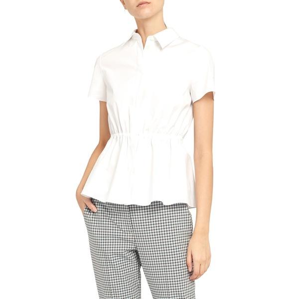 セオリー レディース シャツ トップス Cinched Waist Shirt White