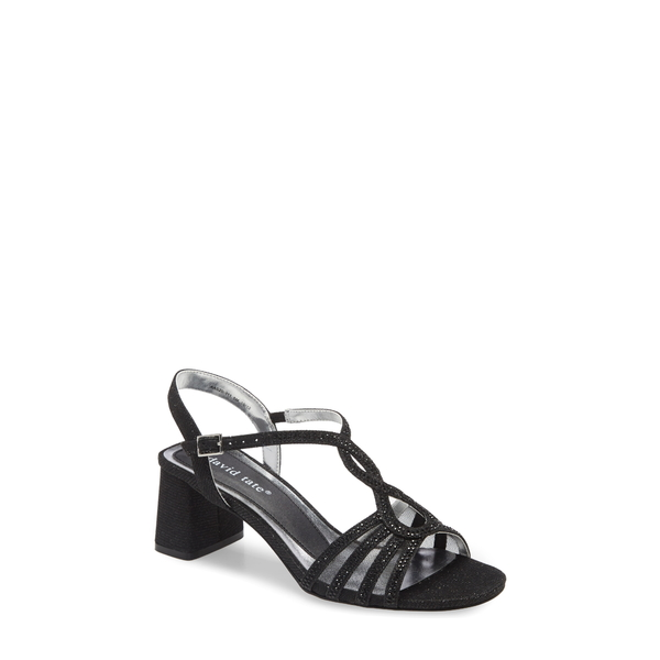 ダイビッドテイト レディース サンダル シューズ Choice Strappy Sandal Black Glitter Fabric