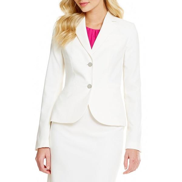 カルバンクライン レディース ジャケット&ブルゾン アウター Two-Button Suit Jacket Cream