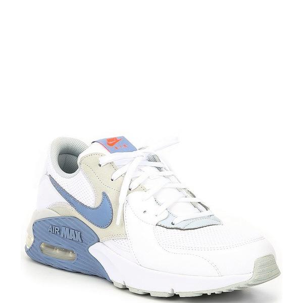 ナイキ メンズ スニーカー シューズ Men's Air Max Excee Lifestyle Shoes White/Pure Platinum/Indigo Fog