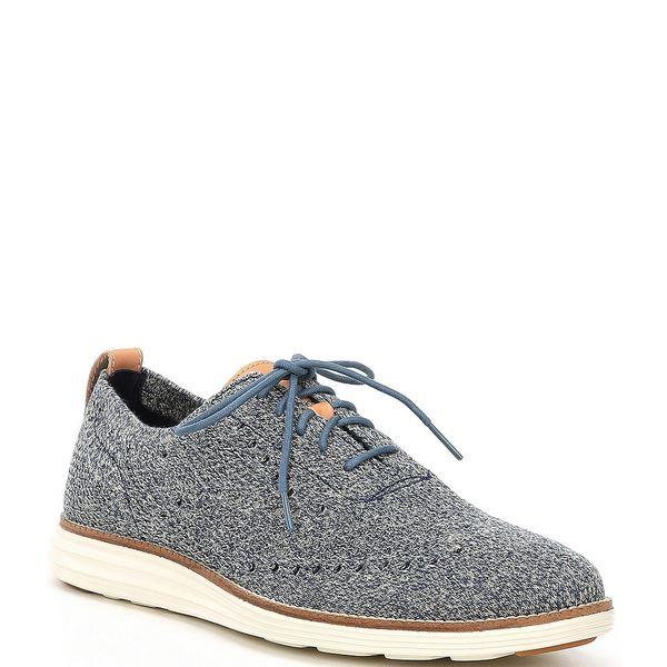 コールハーン メンズ スニーカー シューズ Men's Original Grand Stitchlite Wingtip Shoes Safari/Vintage Indigo