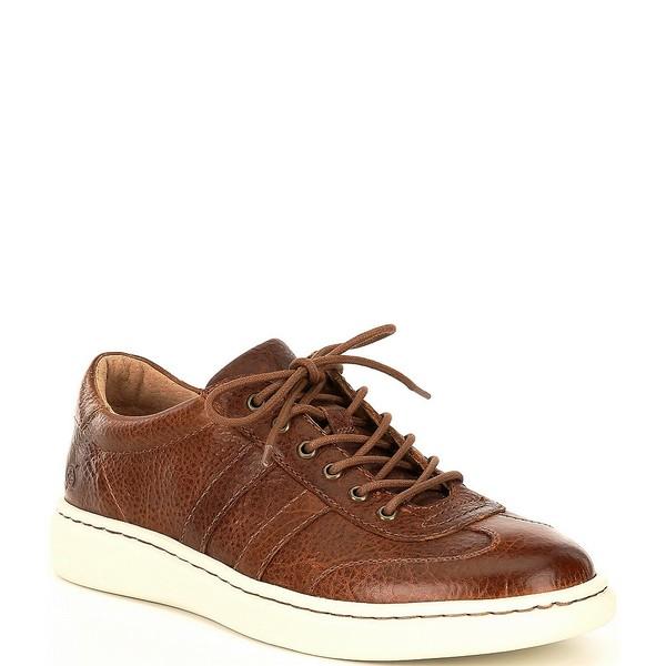 ボーン メンズ スニーカー シューズ Men's Fade Leather Lace Up Sneakers Tan