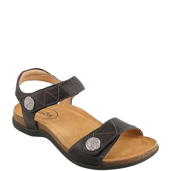 タオスフットウェア レディース サンダル シューズ Pioneer Banded Leather Sandals Black