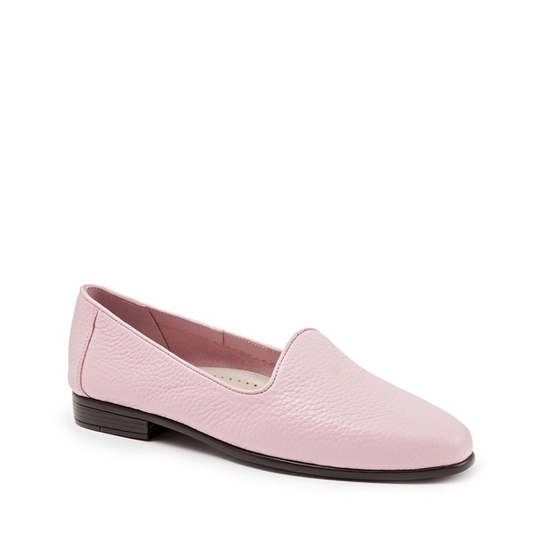 トロッターズ レディース サンダル シューズ Liz Tumbled Leather Flats Pink