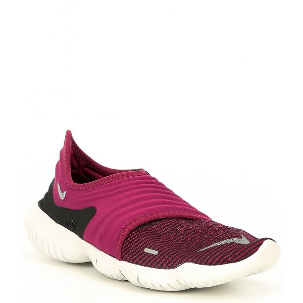 ナイキ レディース スニーカー シューズ Women's Free RN 3.0 Flyknit Running Shoe True Berry/Black/Metallic Silver