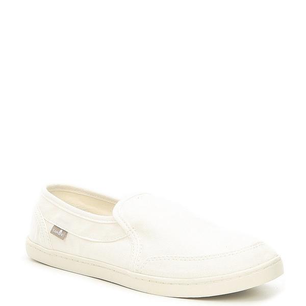 サヌーク レディース スニーカー シューズ Pair O Dice Canvas Slip-On Shoes White