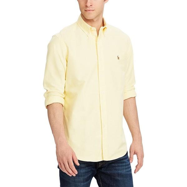 ラルフローレン メンズ シャツ トップス Solid Oxford Shirt Yellow