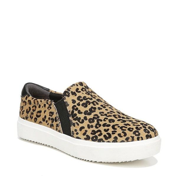 ドクターショール レディース スニーカー シューズ Leta Leopard Print Calf Hair Slip Ons Tan/Black