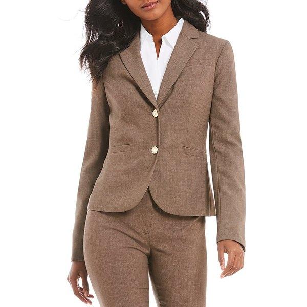 カルバンクライン レディース ジャケット&ブルゾン アウター Two-Button Suit Jacket Heather Taupe