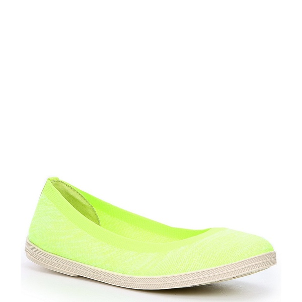 ジービー レディース サンダル シューズ Break-Free Neon Fly Knit Slip On Sneakers Neon Yellow