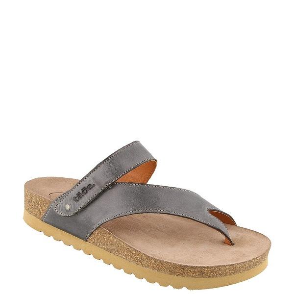 タオスフットウェア レディース サンダル シューズ Lola Banded Leather Thong Sandals Steel Leather