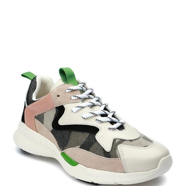 サンクチュアリー レディース スニーカー シューズ Groove Camo Leather Sneakers Fatigue/Bone