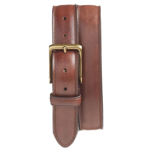 ボスカ メンズ ベルト アクセサリー Bosca The Jefferson Leather Belt Dark Brown