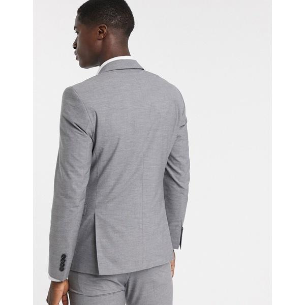セレクテッドオム メンズ ジャケット&ブルゾン アウター Selected Homme skinny fit suit jacket in gray Light gray melange