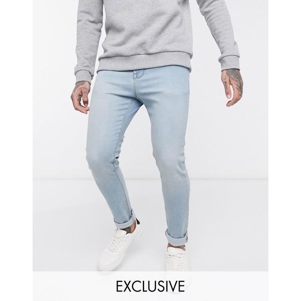 ノーク メンズ デニムパンツ ボトムス Noak skinny jeans in light blue wash Light blue