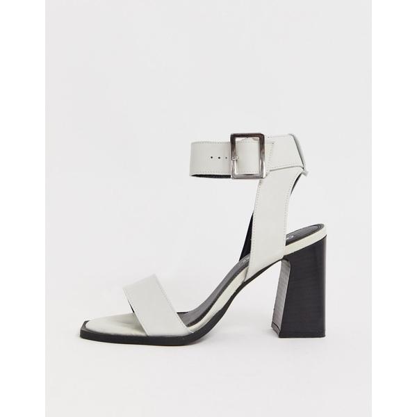 エイソス レディース サンダル シューズ ASOS DESIGN Herbert leather block heeled sandals in white White