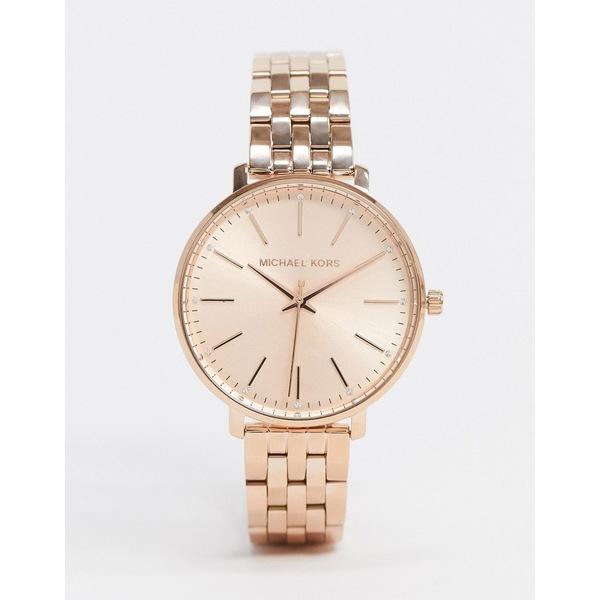 マイケルコース レディース 腕時計 アクセサリー Michael Kors Pyper rose gold bracelet watch MK3897 Rose gold