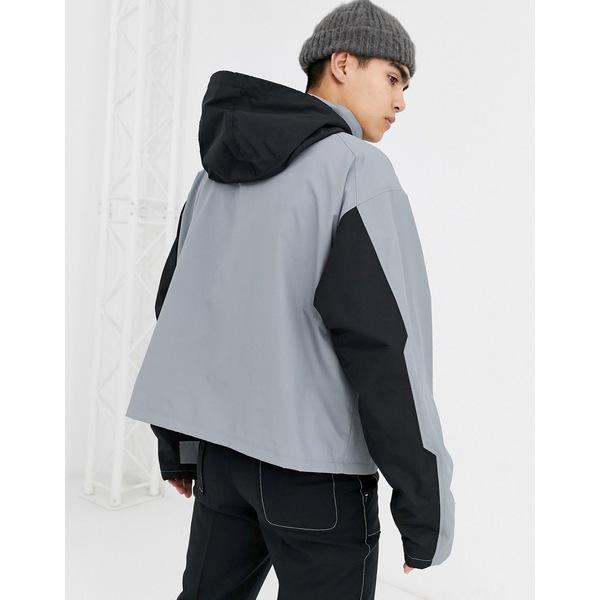 エイソス メンズ ジャケット&ブルゾン アウター ASOS DESIGN jacket with multi pocket in gray Gray