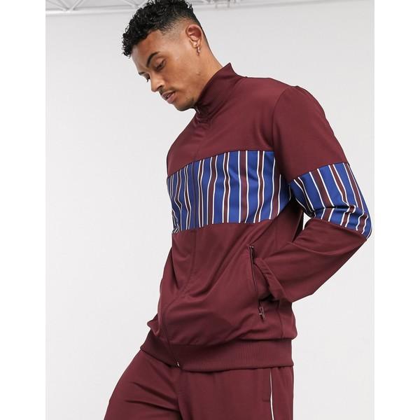 エイソス メンズ ジャケット&ブルゾン アウター ASOS DESIGN two-piece track jacket in poly tricot fabric with stripes Multi