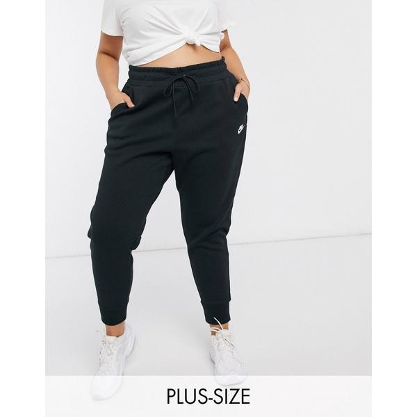 ナイキ レディース カジュアルパンツ ボトムス Nike Plus tech fleece black sweatpants Black