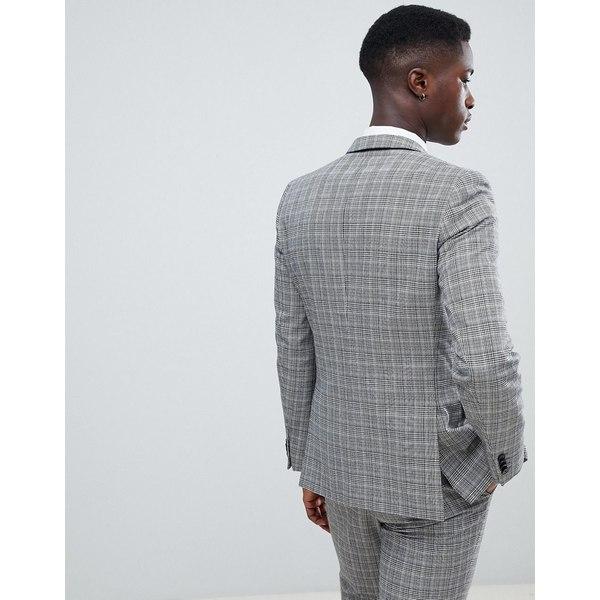フレンチコネクション メンズ ジャケット&ブルゾン アウター French Connection Heritage Prince Of Wales Check Slim fit Suit Jacket Gray