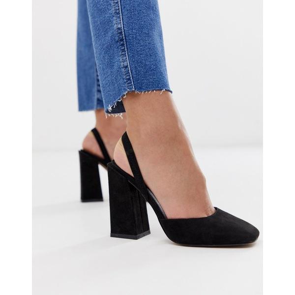 エイソス レディース ヒール シューズ ASOS DESIGN Pivot slingback high heels Black