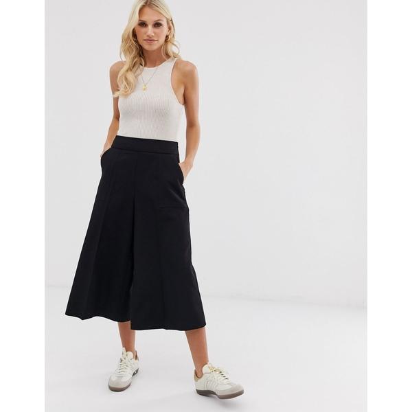 エイソス レディース スカート ボトムス ASOS DESIGN tailored clean culottes Black
