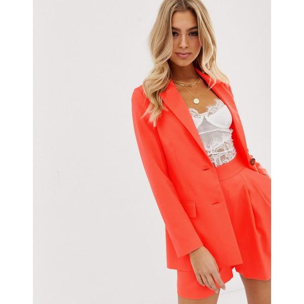 エイソス レディース ジャケット&ブルゾン アウター ASOS DESIGN pop coral soft suit blazer Coral