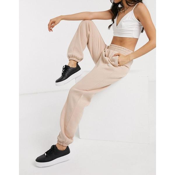 ナイキ レディース カジュアルパンツ ボトムス Nike Mini Swoosh Oversized Light Beige Sweatpants Shimmer