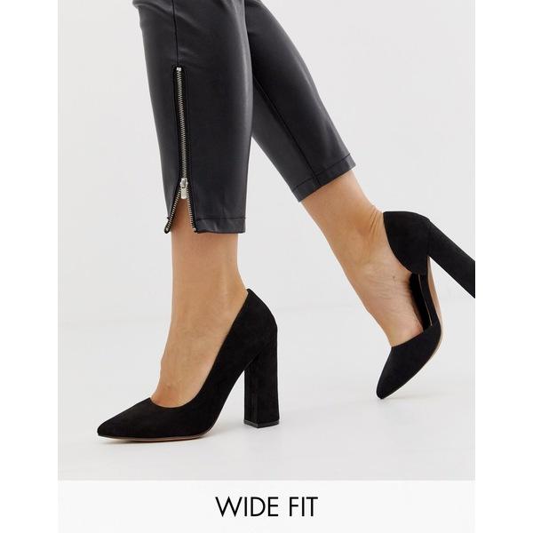 エイソス レディース ヒール シューズ ASOS DESIGN Wide Fit Walter d'orsay high heels in black Black