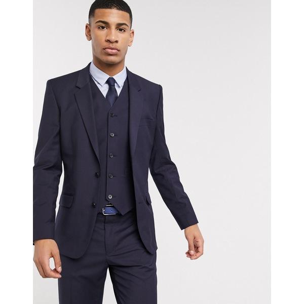 エイソス メンズ ジャケット&ブルゾン アウター ASOS DESIGN slim suit jacket in navy Navy