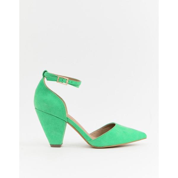 エイソス レディース ヒール シューズ ASOS DESIGN Speakeasy pointed mid heels Green