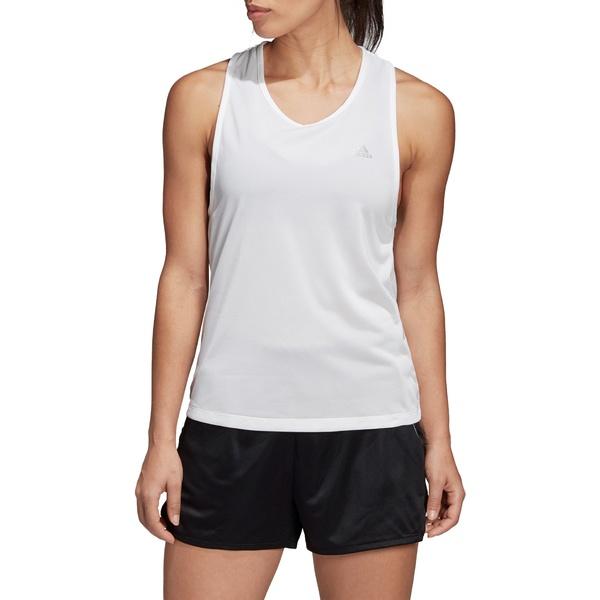 アディダス レディース シャツ トップス adidas Women's Club Tieback Tennis Tank White
