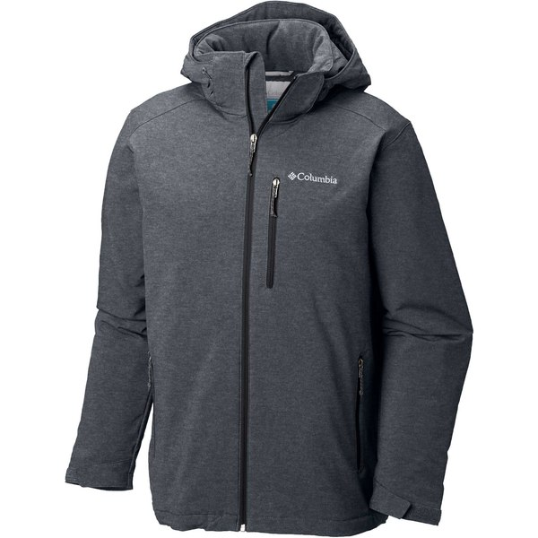 コロンビア メンズ ジャケット&ブルゾン アウター Columbia Men's Gate Racer Softshell Jacket (Regular and Big & Tall) GraphiteHeather/Black