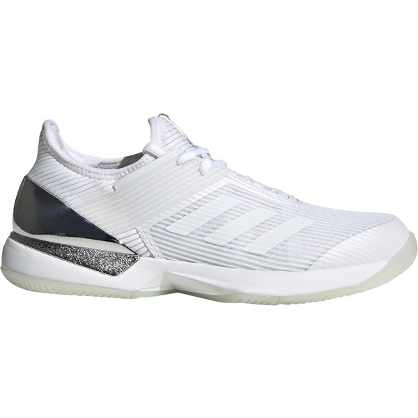 アディダス レディース テニス スポーツ adidas Women's Ubersonic 3.0 Tennis Shoes White/Silver