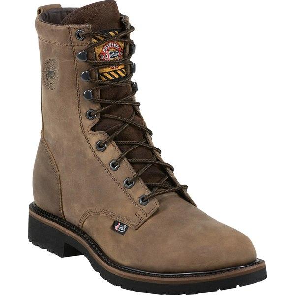 ジャスティンブーツ メンズ ブーツ&レインブーツ シューズ Justin Men's Drywall Steel Toe EH Work Boots Brown