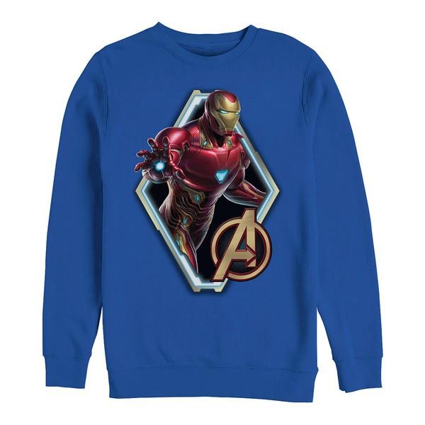 買取り実績  マーベル メンズ パーカー・スウェットシャツ アウター Men&39;s Avengers Endgame Iron Man Diamond Portrait, Crewneck Fleece Royal, 快眠博士 9912e764