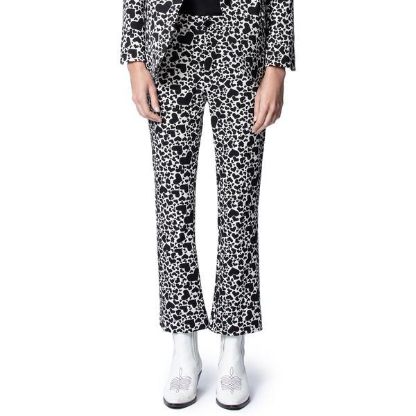 ザディグ エ ヴォルテール レディース カジュアルパンツ ボトムス Polis Jac Coeur Heart Print Trousers Vanille