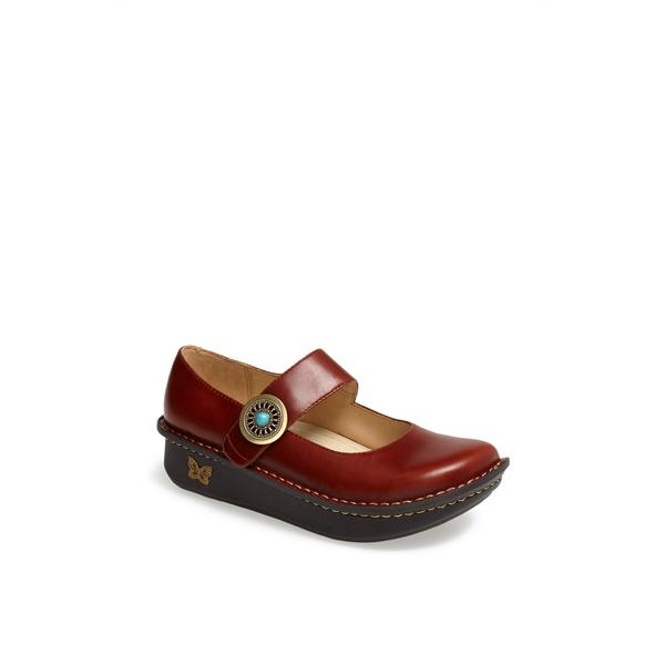 アレグリア レディース サンダル シューズ 'Paloma' Slip-On Flutter Chocolate Leather