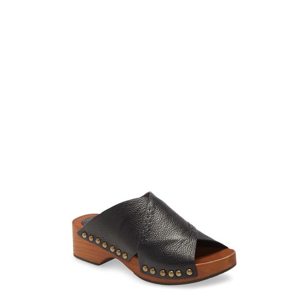ケルシーダッガー レディース サンダル シューズ Sands Platform Clog Black Leather