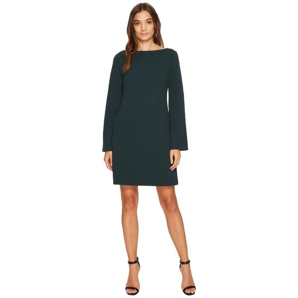 ドナモーガン レディース ワンピース トップス Roxie Boat Neck Shift Dress with Split Sleeve Viridian Green