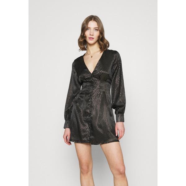 ミスガイデッド 高級な レディース トップス ワンピース black 全商品無料サイズ交換 CINCHED WAIST 超特価SALE開催 MINI A yqej004f - DRESS LINE Day dress