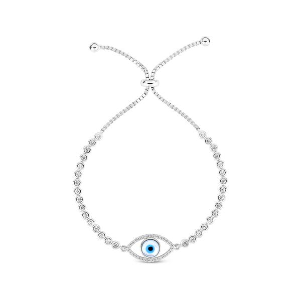 スフラミラノ レディース アクセサリー ブレスレット バングル アンクレット - 全商品無料サイズ交換 迅速な対応で商品をお届け致します Plated Sphera Evil 今ダケ送料無料 Tennis Milano Eye Bracelet