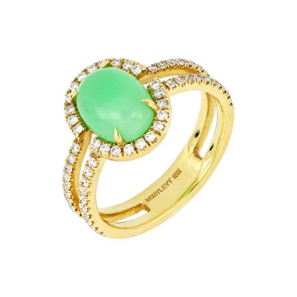 【お買得!】 ボニー Ring レヴィ レディース リング アクセサリー 18K Yellow Yellow Gold Chrysoprase 18KYG & Diamond Ring - Size 6 CHR1.95 RD.39 18KYG, 松山市:8ce06e44 --- eamgalib.ru