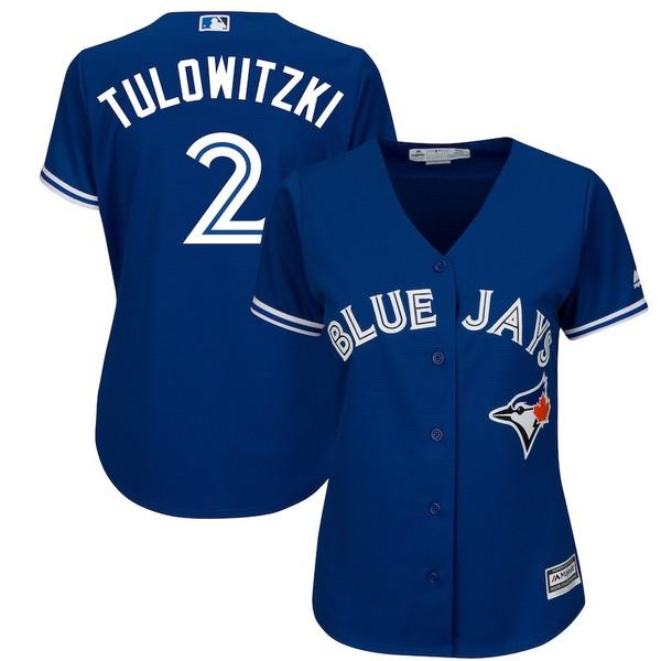マジェスティック レディース シャツ トップス Troy Tulowitzki Toronto Blue Jays Majestic Women's Cool Base Player Jersey Royal