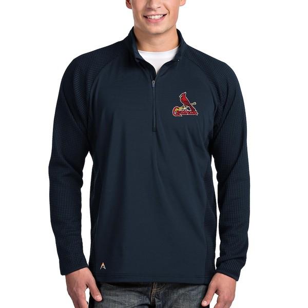 アンティグア メンズ ジャケット&ブルゾン アウター St. Louis Cardinals Antigua Sonar Quarter-Zip Pullover Jacket Navy