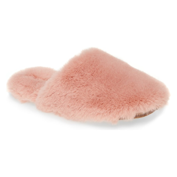 メイドウェル レディース サンダル シューズ Madewell Faux Fur Animal Print Slipper (Women) Forgotten Petal