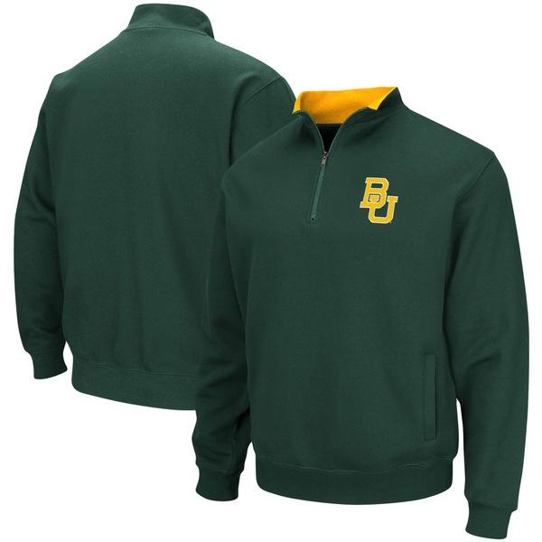 コロシアム メンズ ジャケット&ブルゾン アウター Baylor Bears Colosseum Tortugas Logo QuarterZip Jacket Heathered Gray